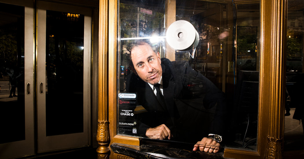 "Jerry Seinfeld is coming back to the Beacon Theater. ""It's my vision of what I consider to be the ideal stand-up experience,"" he said. (Credit: Landon Nordeman for The New York Times)"