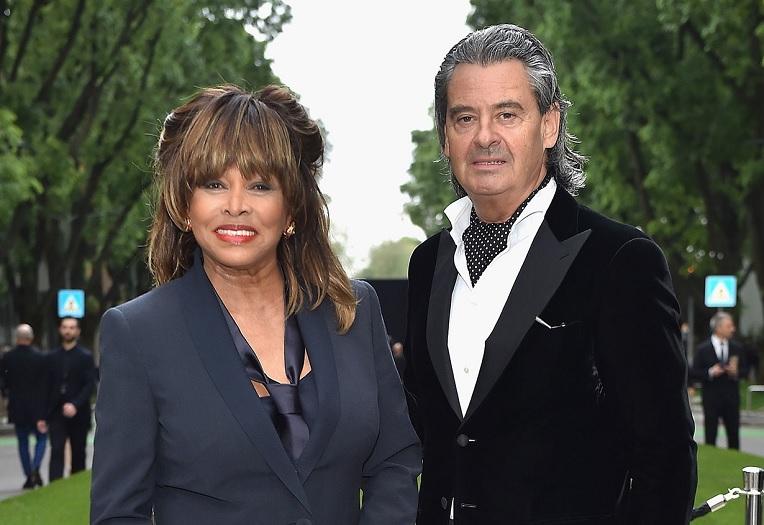 Tina Turner and Erwin Bach. (Jacopo Raule/Getty)