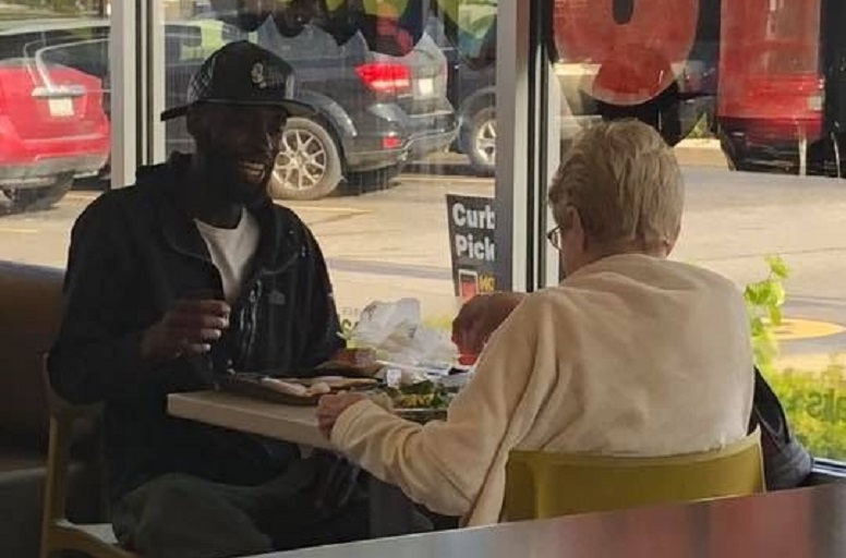 Jan Jessup didn't want to eat alone, so she befriended Eric Haralson at McDonalds's, and the internet is lovin' it (Photo: Amanda Marquell Craft)