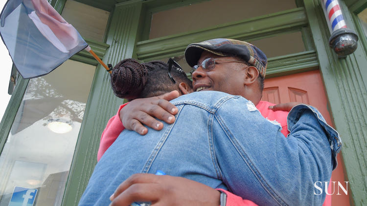 Troy Staton, the well-known barber, art curator and neighborhood organizer was among seven people shot — four of them fatally, including a 13-year-old boy — on a violent Halloween in Baltimore. (Ulysses Muñoz / Baltimore Sun video)