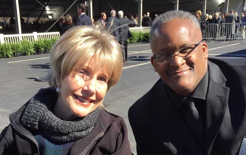 Joni Eareckson Tada and Daniel Whyte III at Billy Graham's homegoing.