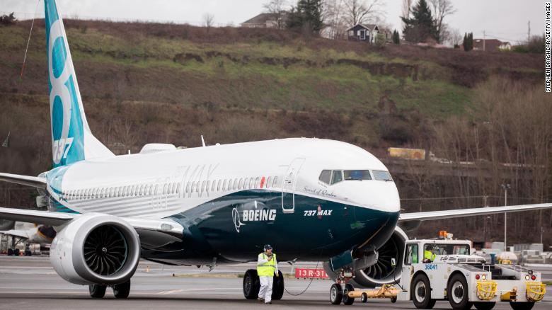 A Boeing 737 MAX 8 airliners taxis after landing at Boeing Field to complete its first flight on January 29, 2016 in Seattle, Washington. The 737 MAX is the newest generation of Boeing's most popular airliner featuring more fuel efficient engines and redesigned wings. (Photo by Stephen Brashear/Getty Images)