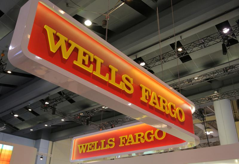 FILE PHOTO: A Wells Fargo logo is seen at the SIBOS banking and financial conference in Toronto, Ontario, Canada October 19, 2017. REUTERS/Chris Helgren