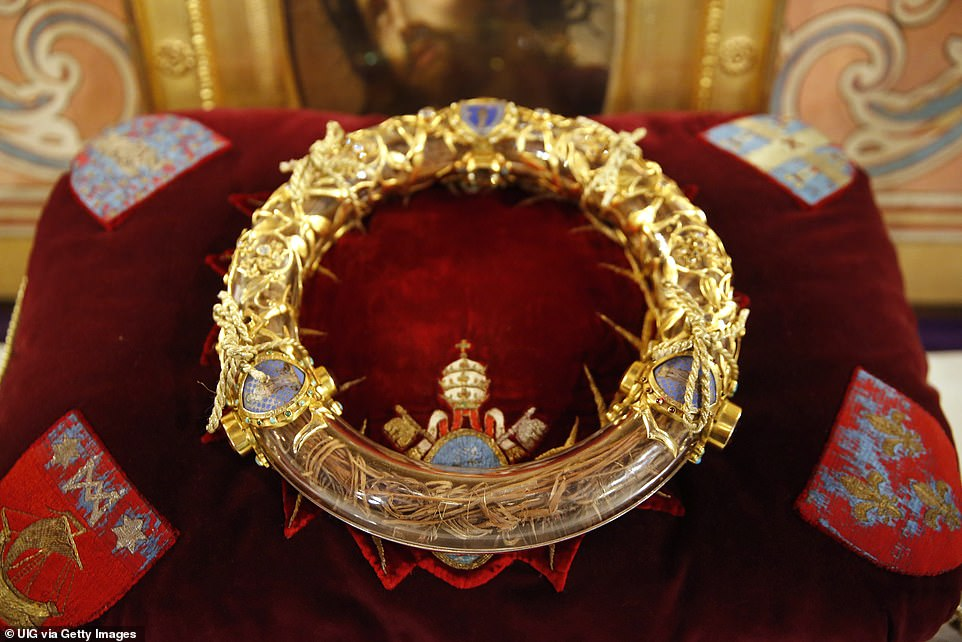 Catholics believe the relic is the 'crown' placed on Jesus' head in mockery as he was crucified.