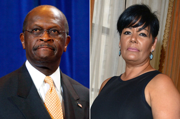 Herman Cain and Ginger White (Getty Images; Gregory P. Mango)