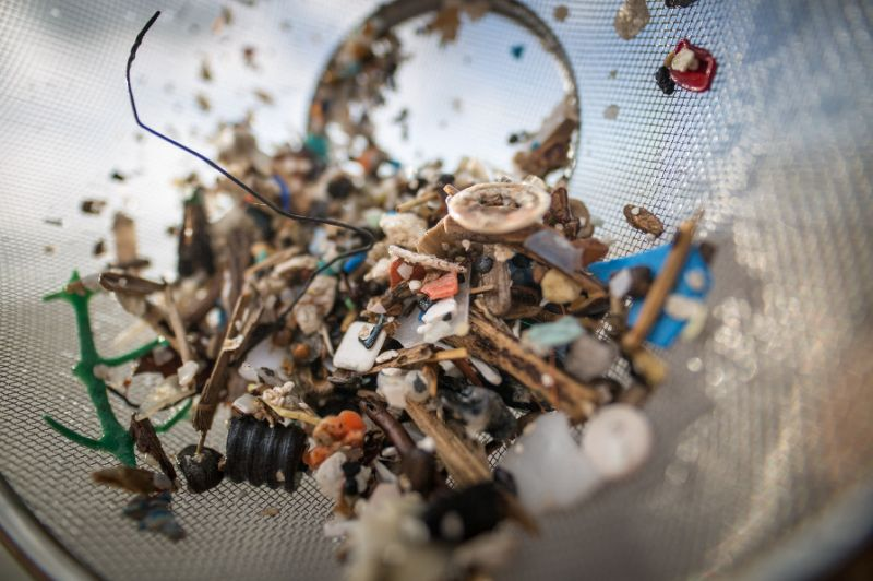 Several previous studies have shown how microplastics may enter the human food chain (AFP Photo/DESIREE MARTIN)