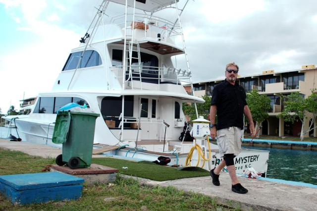John McAfee, co-founder of McAfee Crypto Team and CEO of Luxcore and founder of McAfee Antivirus, leaves his yacht at the Marina Hemingway in Havana, Cuba, July 4, 2019. (REUTERS/Alexandre Meneghini)