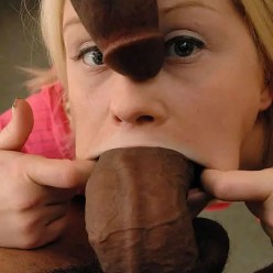 Fat Cock in Her Mouth - image  on https://blackcockcult.com