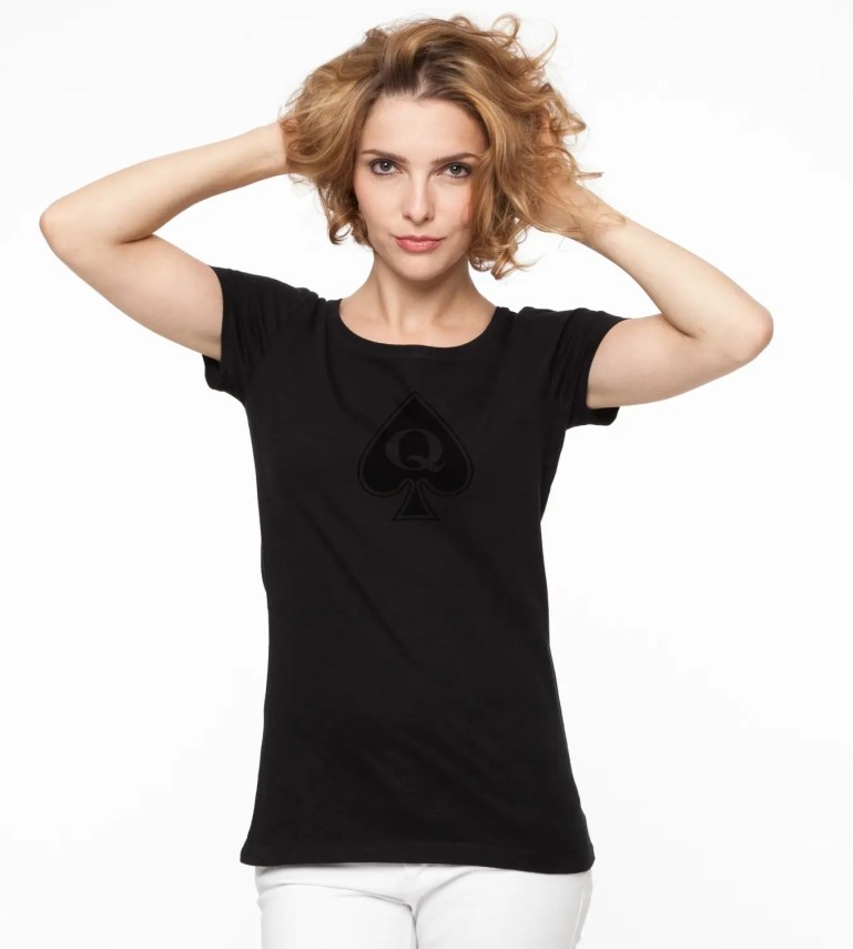 Women Modeling the Latest Queen of Spades Fashion - image  on https://blackcockcult.com