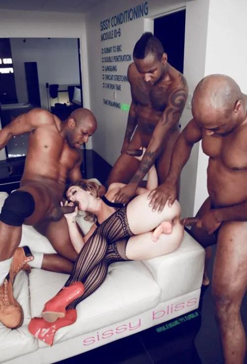 Feminized and Blacked – III - image  on https://blackcockcult.com