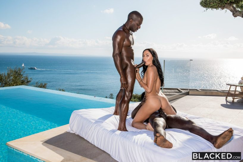 Ariana Marie Double-Teamed by the Pool - image  on https://blackcockcult.com