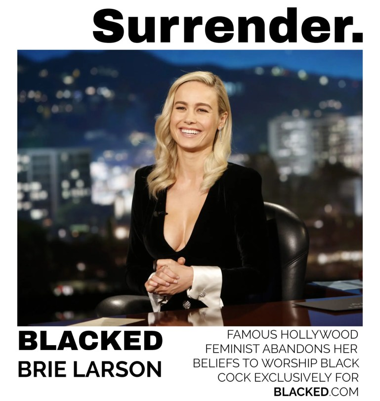 Blacked List: Brie Larson - image  on https://blackcockcult.com
