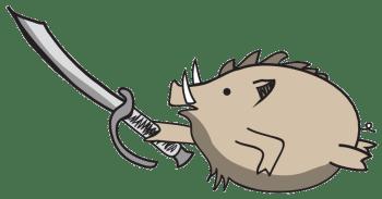 Black Collar Arms Pork Sword Logo