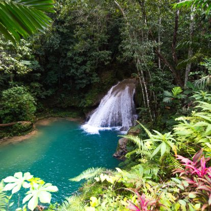 Waterfall of the Blue Hole, Jamaica