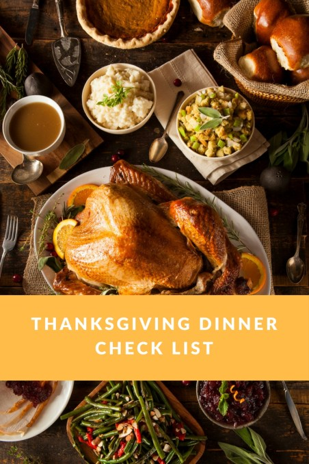 Thanksgiving Dinner Planner