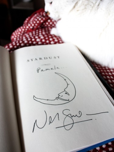 Neil Gaiman autograph of my copy of Stardust