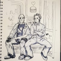 Inktober 2017 Day 31 Mike and Jason by blackdaisies
