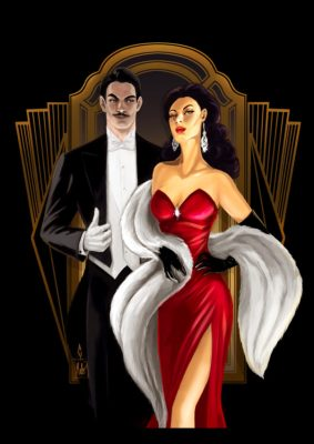 Bella and Mortimer Goth by blackdaisies available as prints at Redbubble