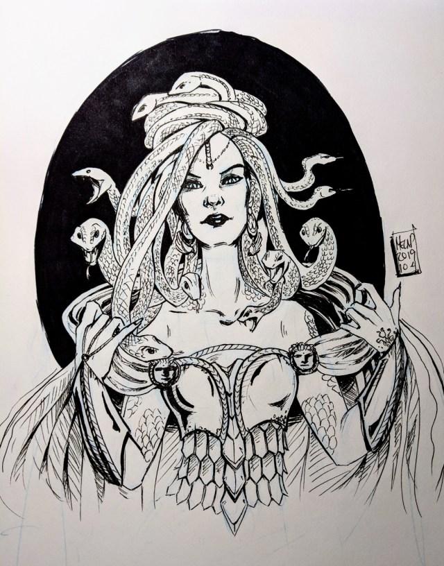 Inktober 2019 Medusa