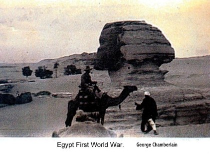 George Chamberlain on camel.