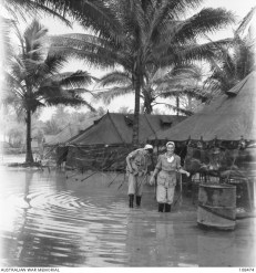 It's a wee bit wet at Morotai