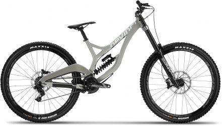 Grey Devinci Wilson downhill bike