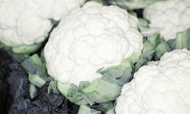 Four bunches of cauliflower