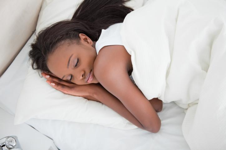 woman sleeping well