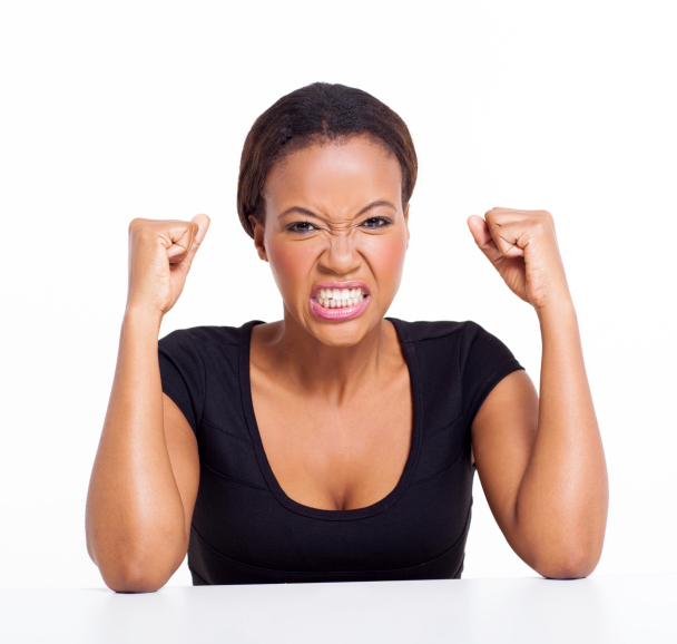 angry african woman