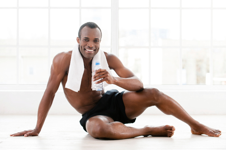 man exercise rest