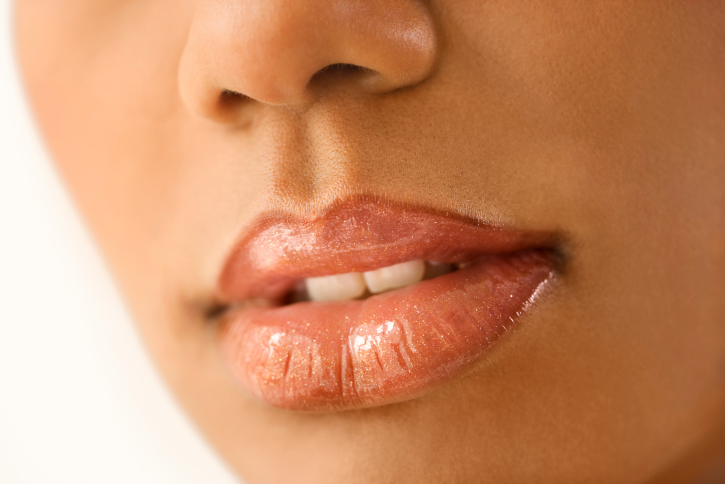 woman lips close up