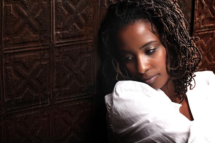sad African American woman