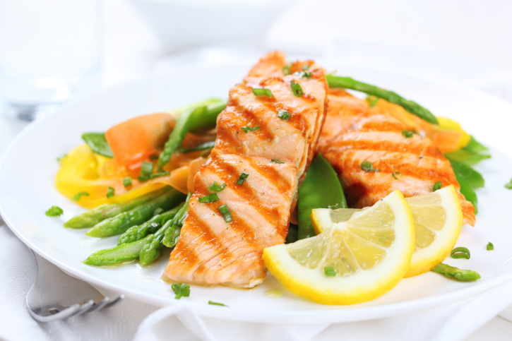 grilled salmon plate