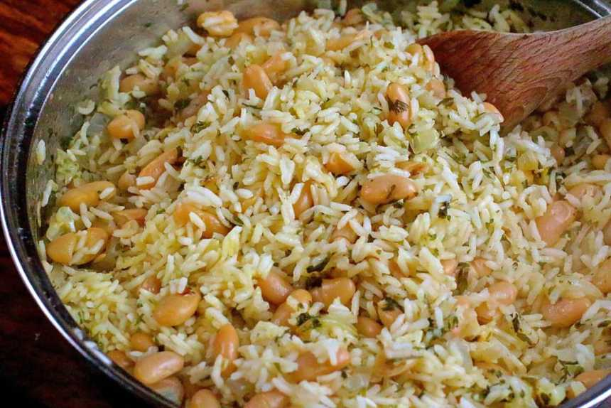 white beans and rice
