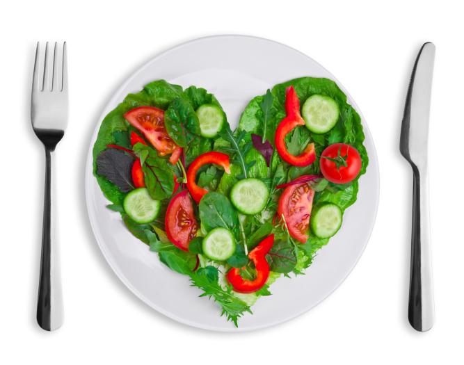 heart-shaped vegetables
