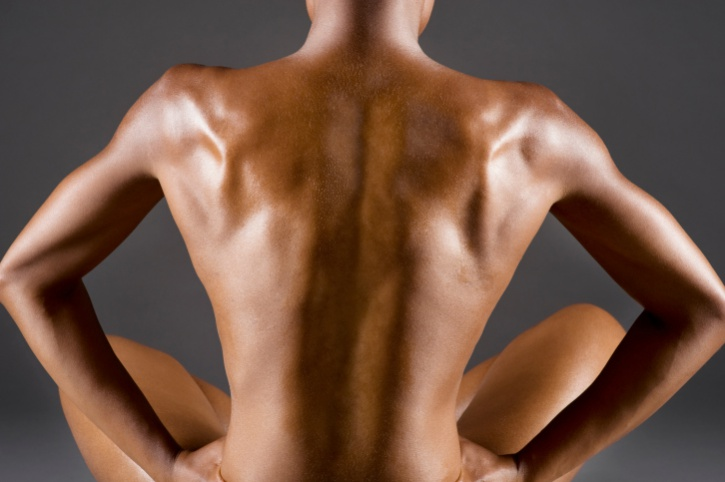 athletic woman with defined back