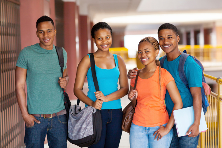 group college students