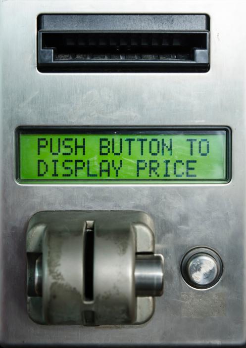 Display of Vending Machine