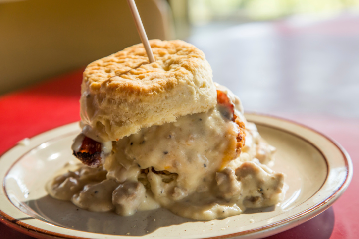 Chicken Biscuit and Gravy