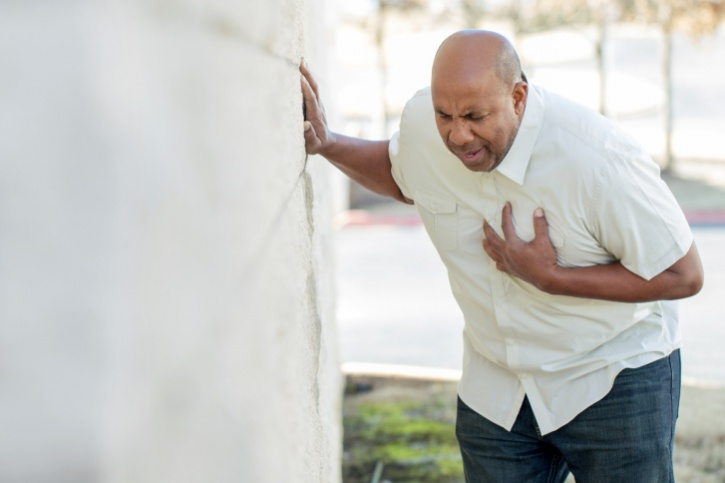 Man Having Chest Pains