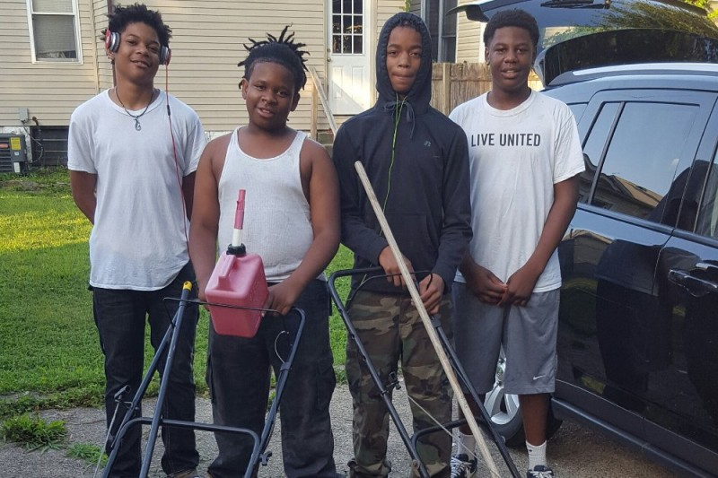 Travis Durham and his brothers and cousin—Demontae, Thomas and Alan