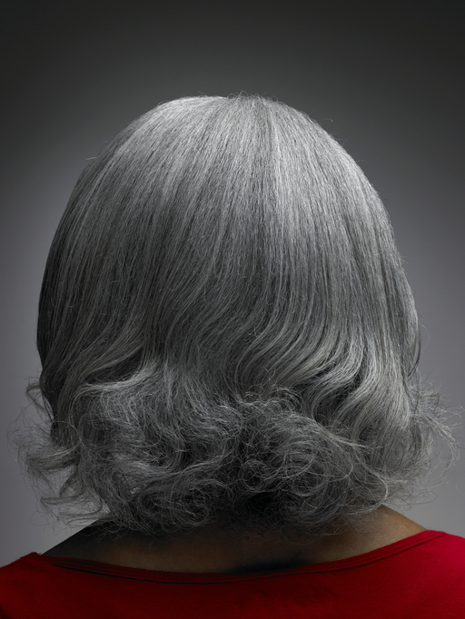 African American woman grey hair