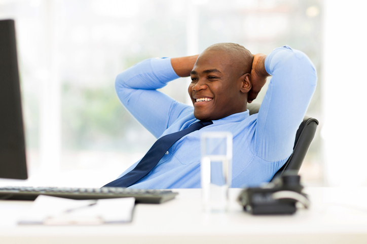 African American man in office