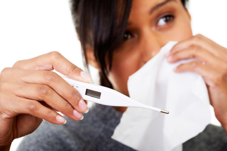 African American woman sick