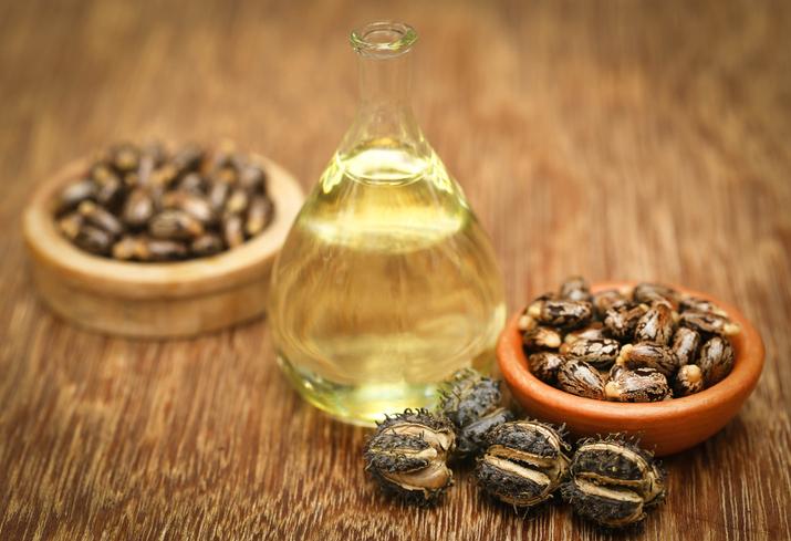 Castor oil and beans