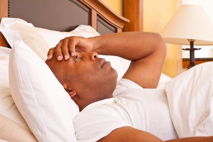 African American man insomnia