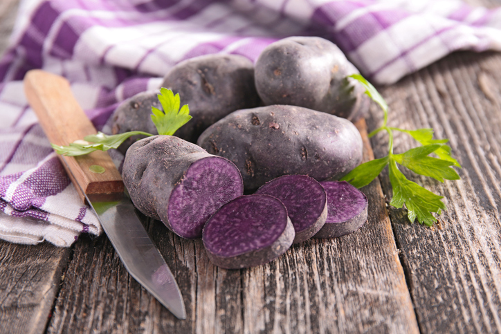 raw purple potato