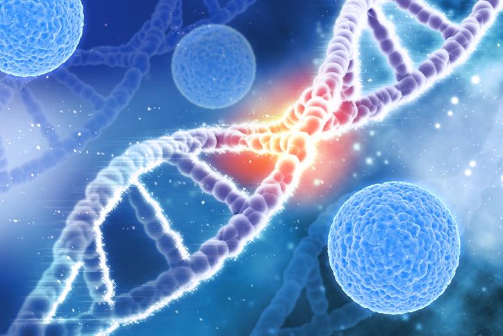 3D DNA strand illustration