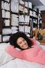 african american woman on a mattress