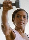 older black woman weight lifting